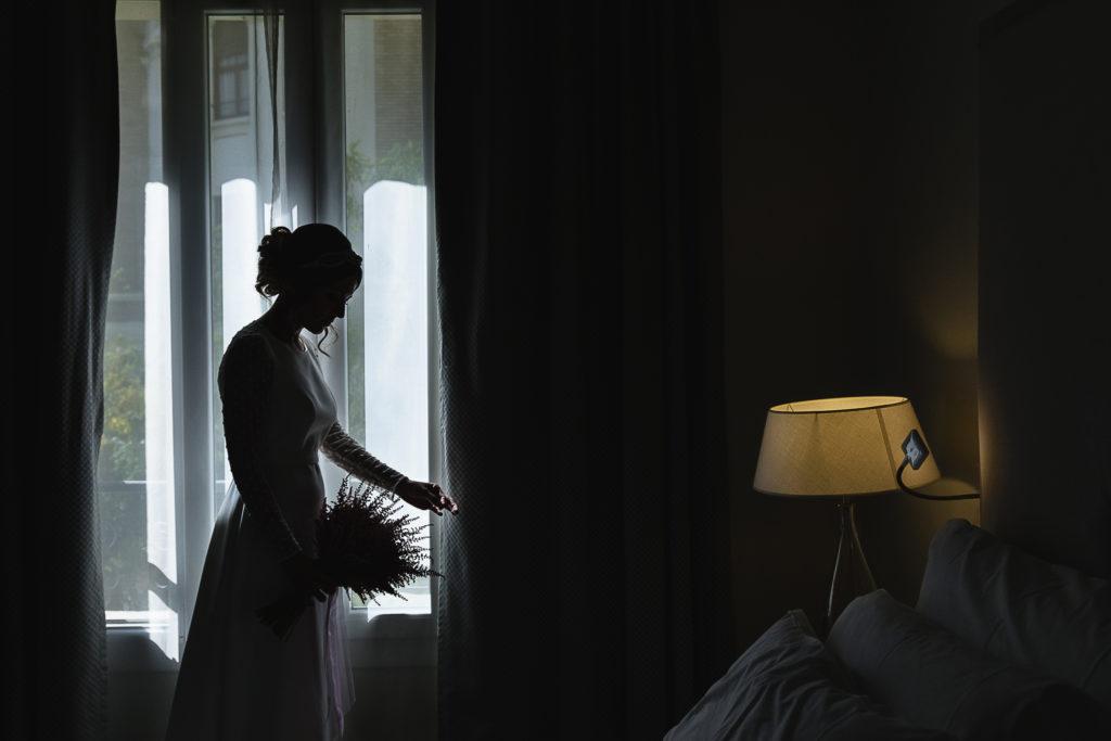 Fotografia de Boda en Gran Hotel Zaragoza Preparativos Novia Retrato
