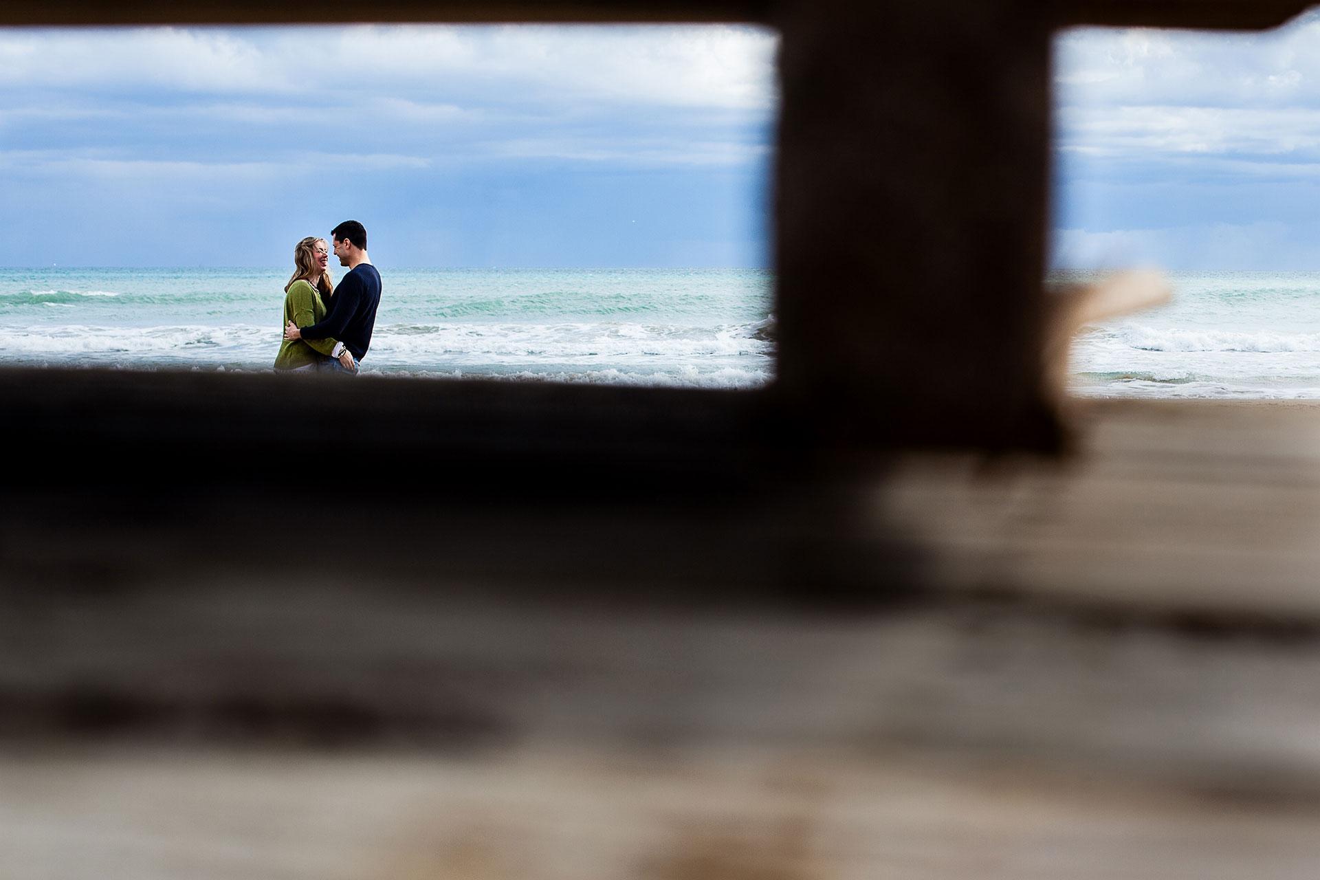 Fotografia preboda playa Peñiscola