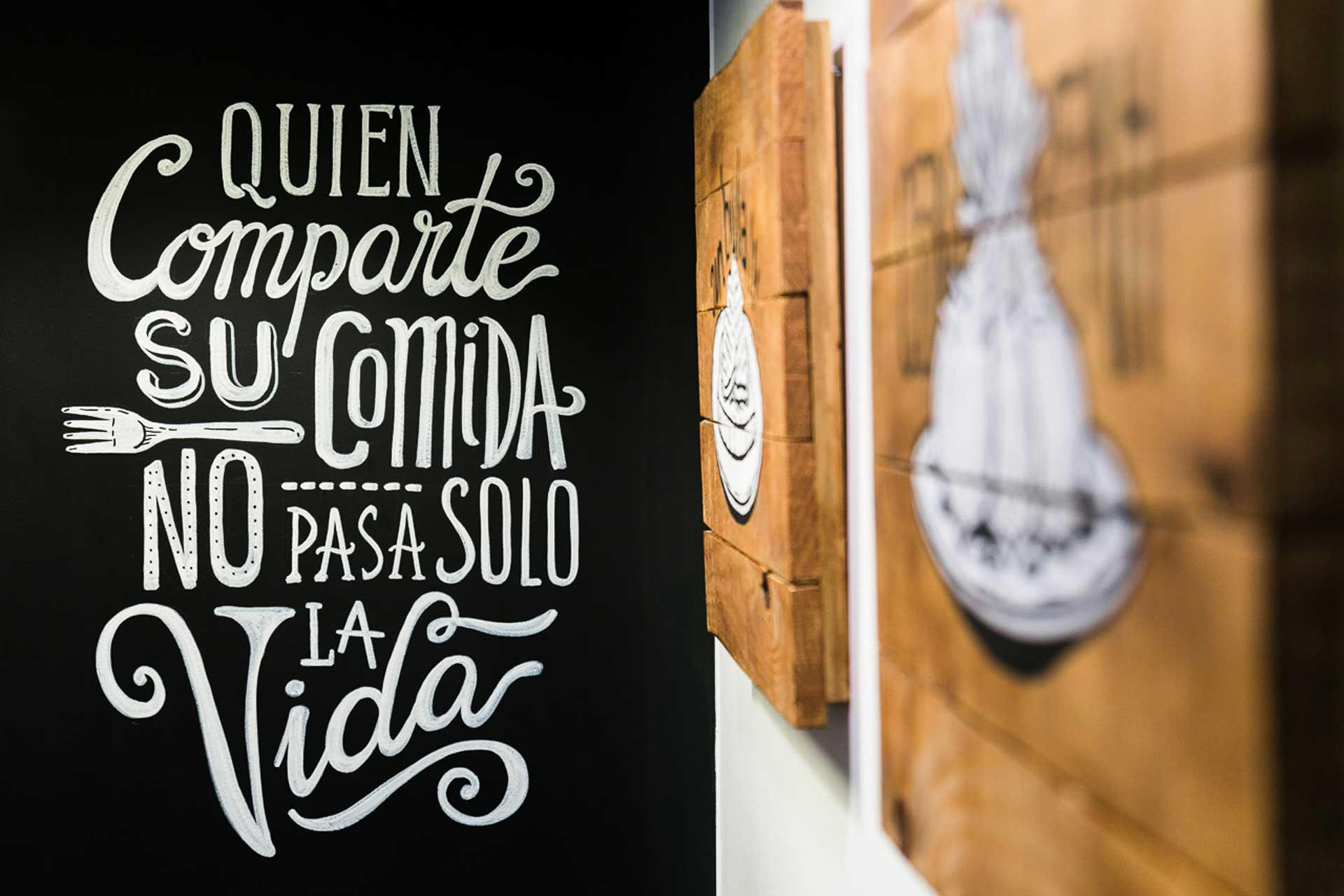Bula Restaurante Zaragoza Fotografia Gastronomica Decoracion lettering