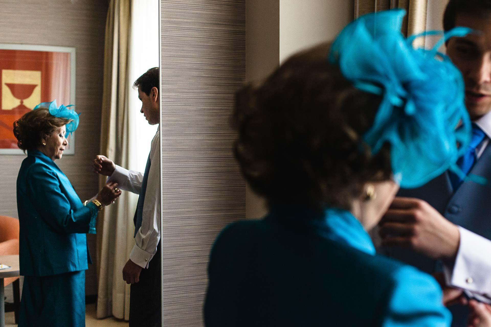 Boda Huesca Hotel Abba Retrato Novio Madrina