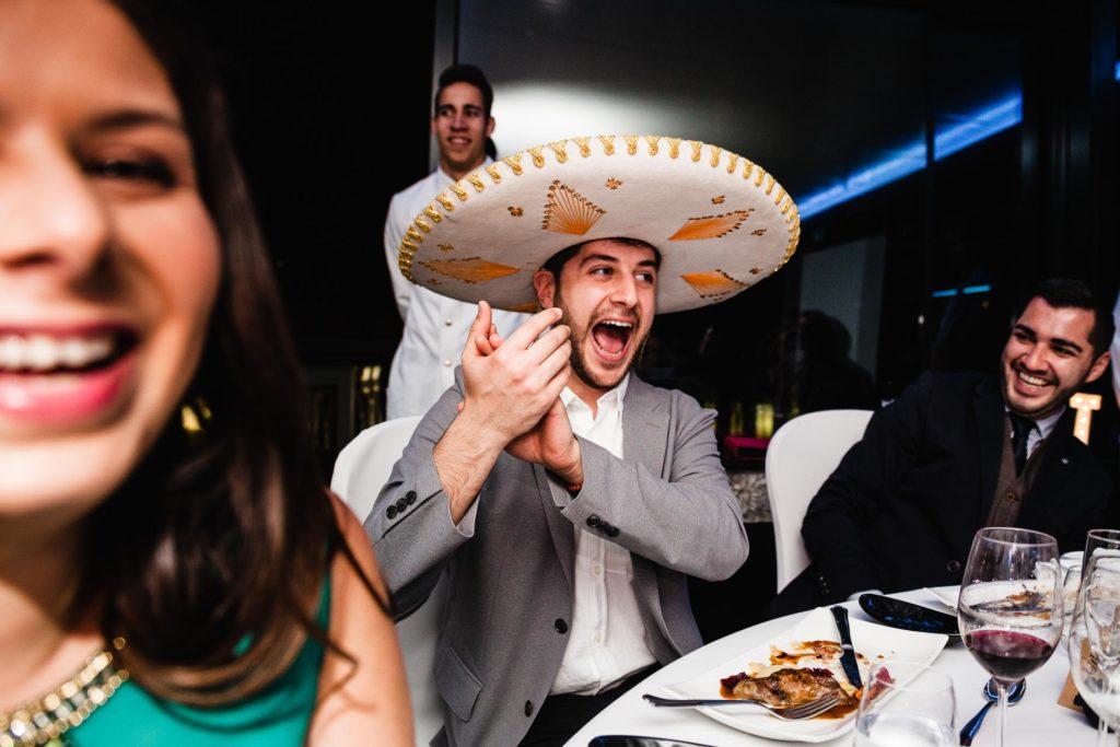 Boda Zaragoza Restaurante Aura Convite Mexicano Mariachi sombrero