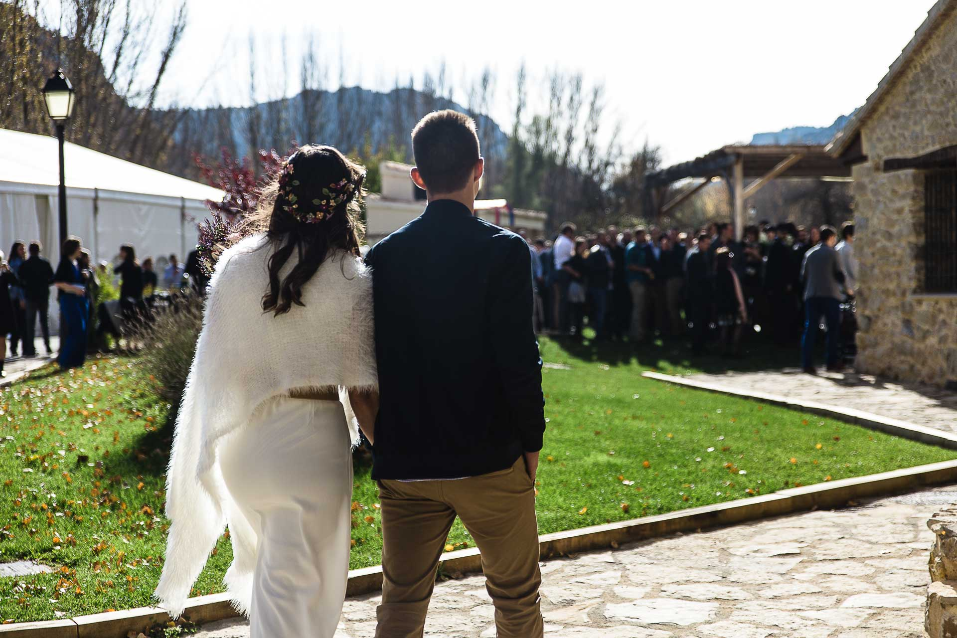 Boda en el Molino Alto, Aliaga, Teruel Camino Ceremonia