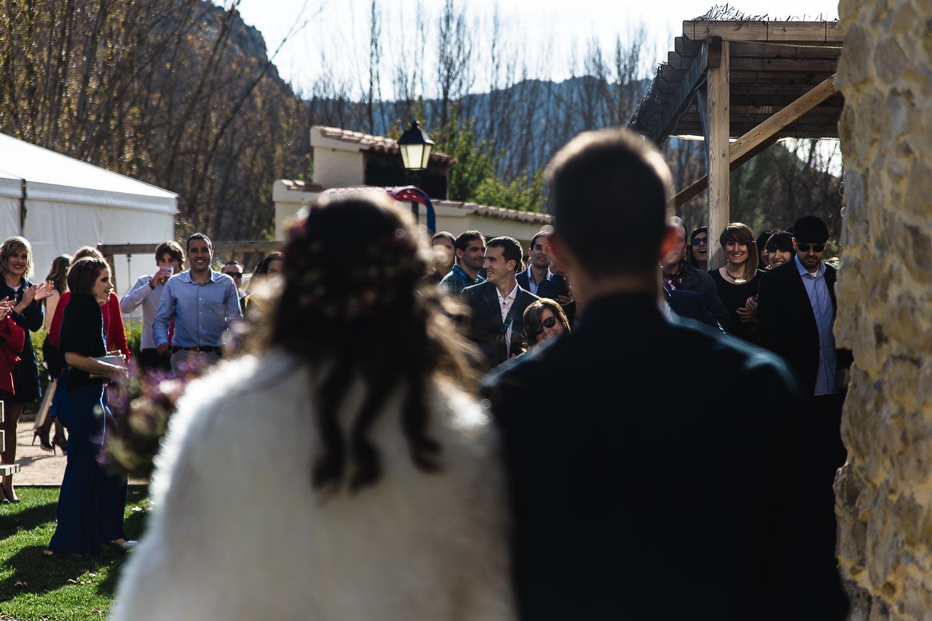 Boda en el Molino Alto, Aliaga, Teruel Camino Ceremonia invitados