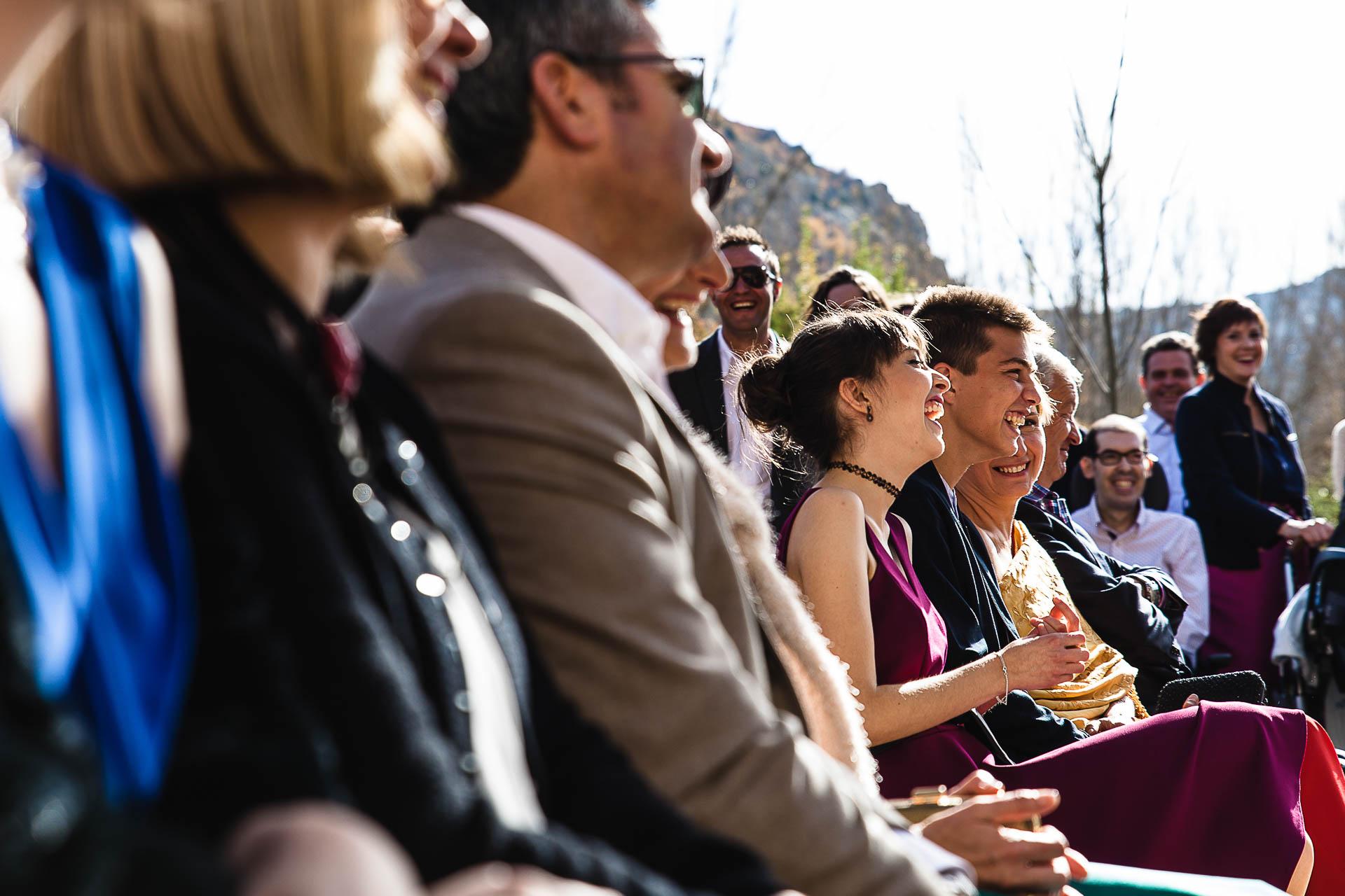 Boda en el Molino Alto, Aliaga, Teruel Ceremonia risas