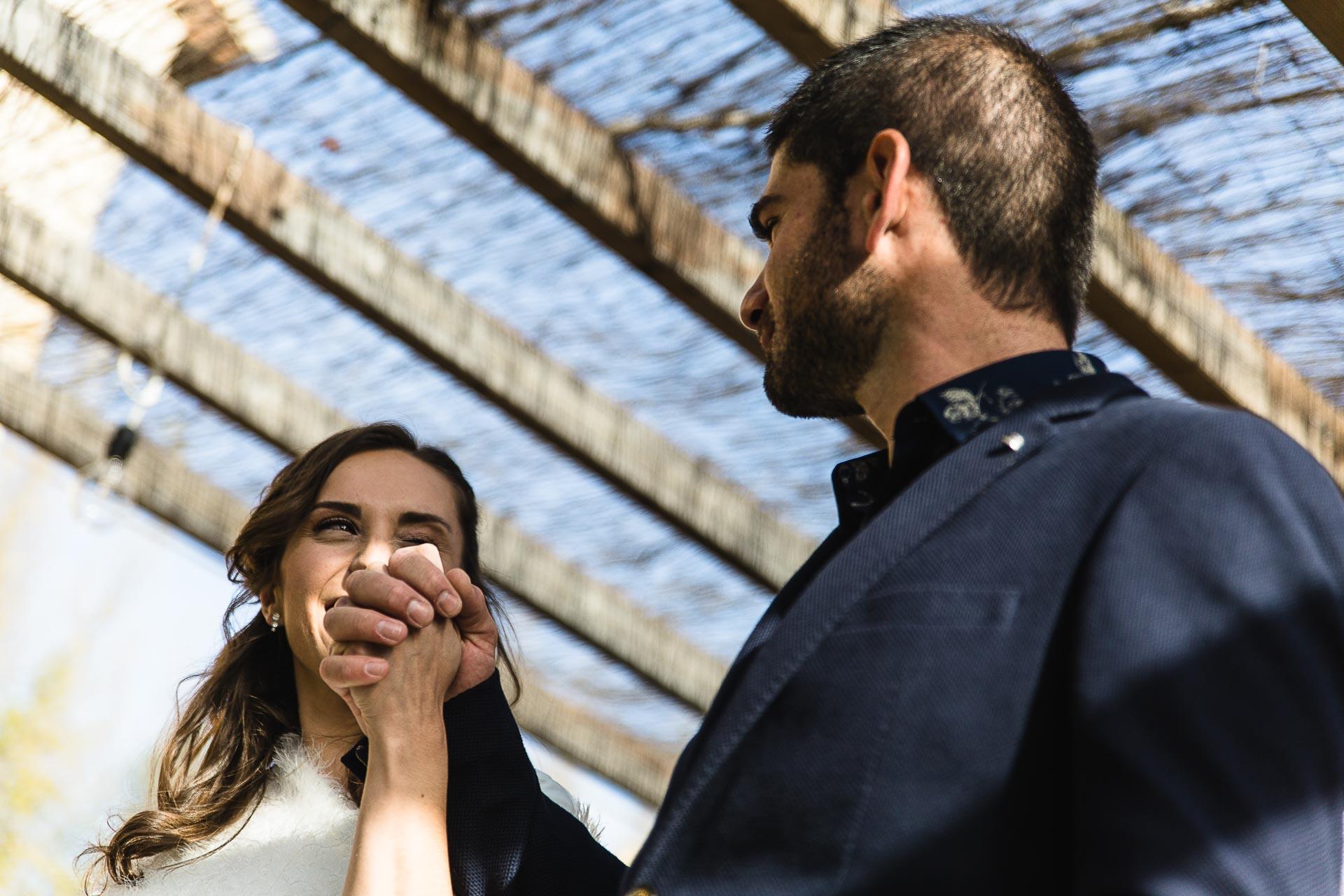 Boda en el Molino Alto, Aliaga, Teruel Ceremonia Manos