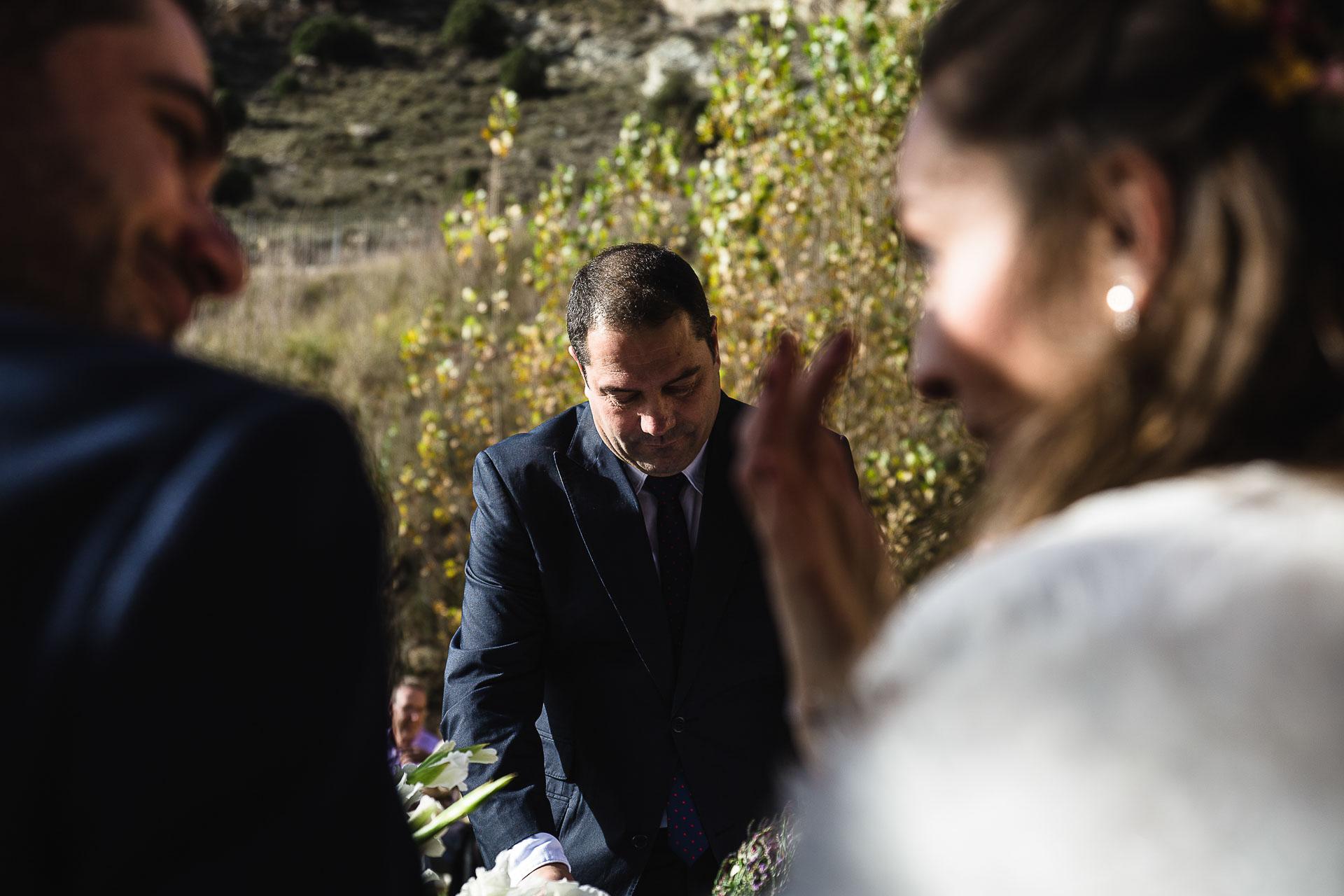 Boda en el Molino Alto, Aliaga, Teruel Ceremonia lagrima