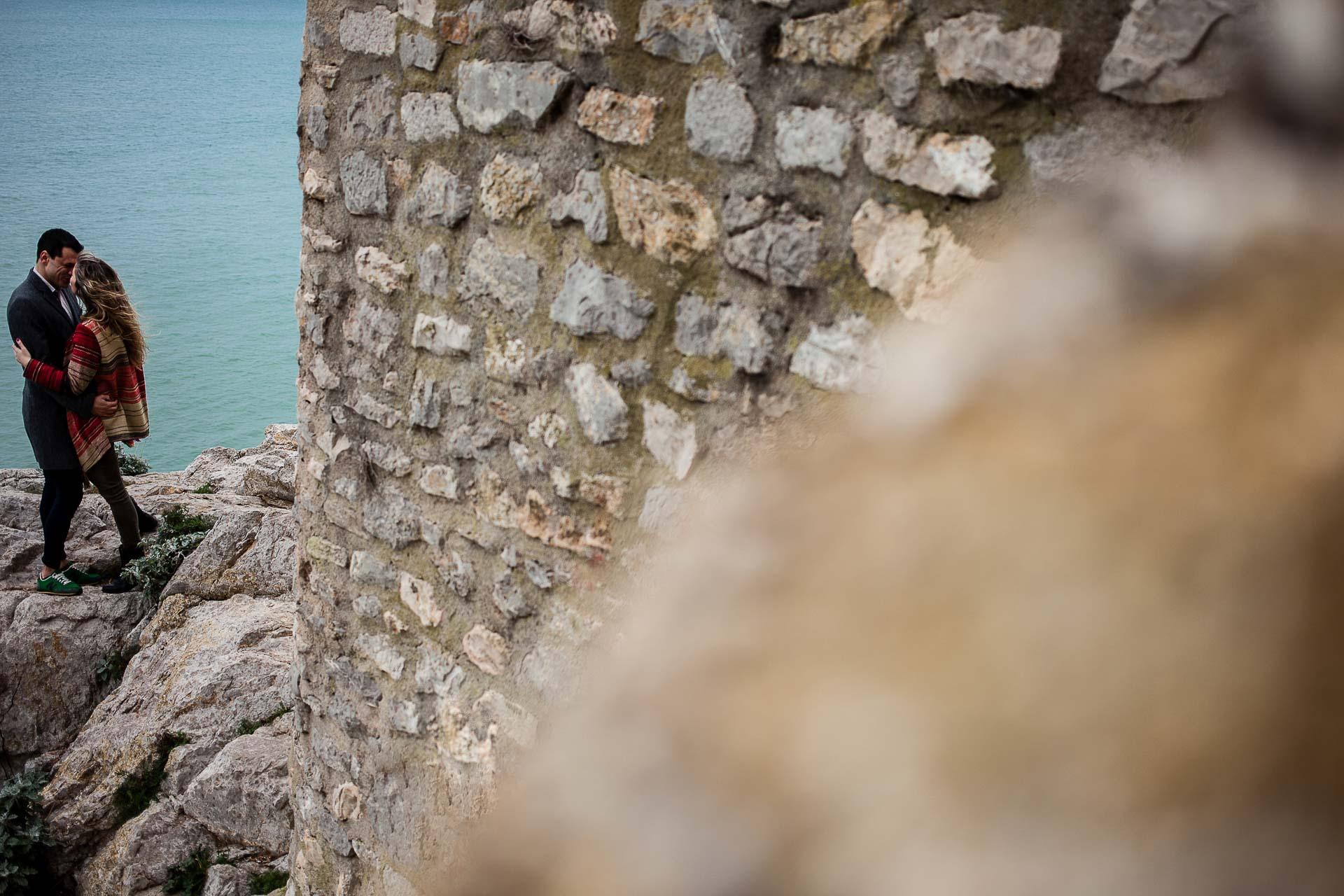 Preboda Peñiscola Sesion de Pareja Castillo Y Mar